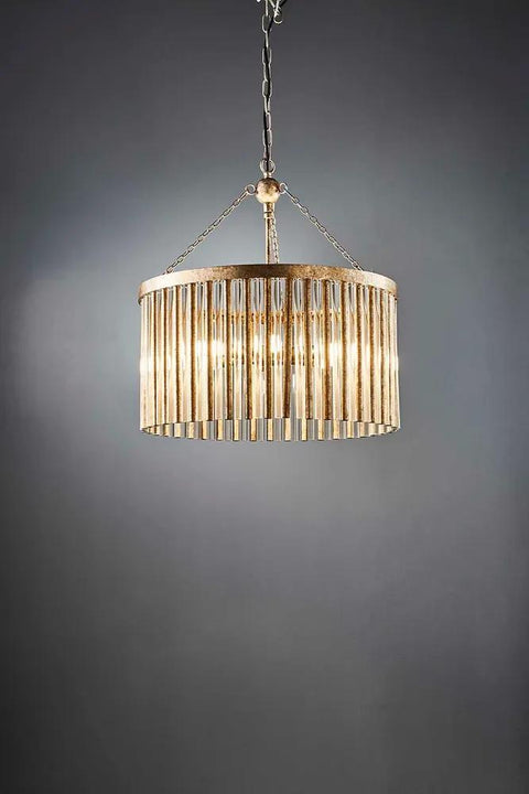 Midtown chandelier antique cracked sil