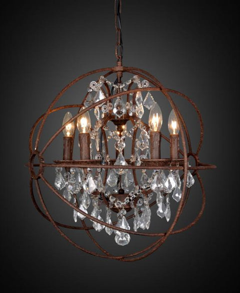 Sundance Chandelier medium in Rust