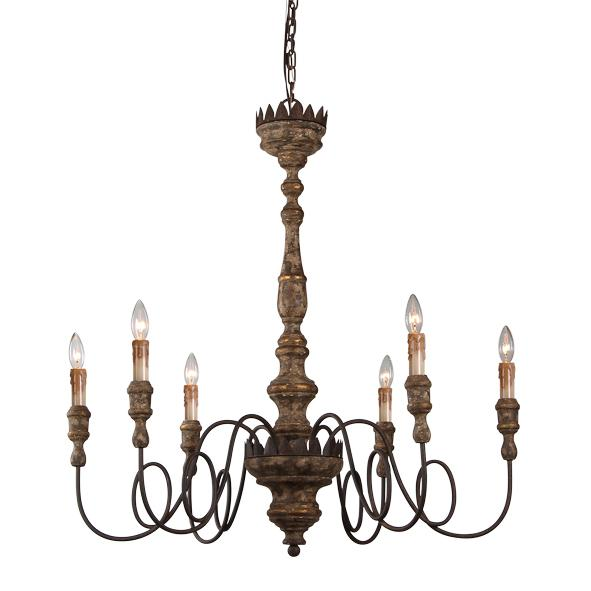 French Provincial Metal Elyse Chandelier