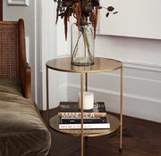 Benny - Gold Metal Side Table