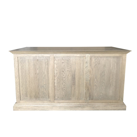 French Panneled Desk - Weathered Oak