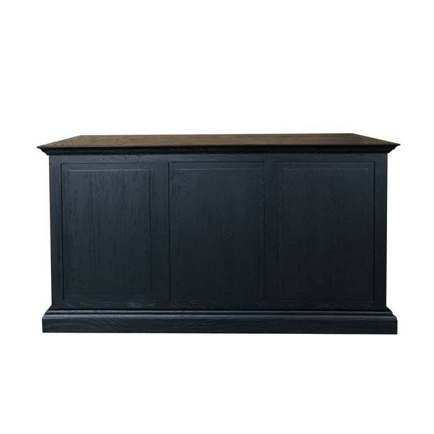 French Panelled Desk - Black