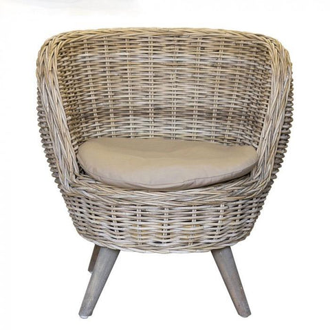 Round Bucket Chair - Rattan