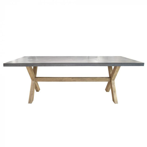 Concrete Styled Cross Leg Dining Table