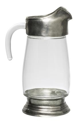 Glass & Pewter  Jug - Large