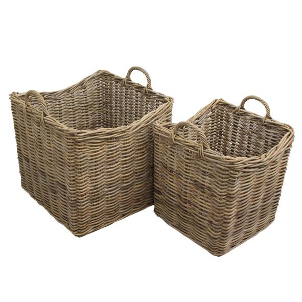 Grove Square Planter Baskets (Set of 2)