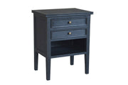 Partrack Side Table Black Oak