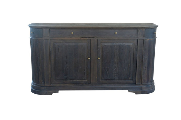 Rounded Oak Sideboard - Black Oak