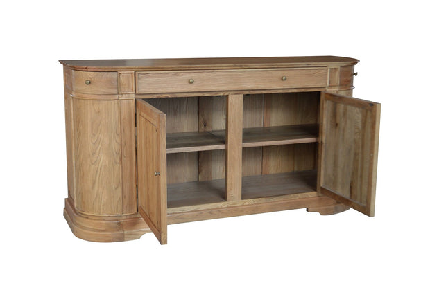 Rounded Recycled Timber Sideboard  - Large