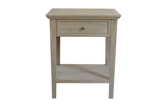 Ashiya Side Table - Weathered Oak