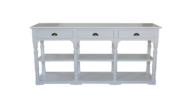 Oscar Console Table - White with Oak Top