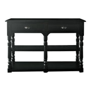 Oscar Console Table - Small - Black Oak