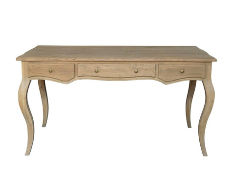Louis Weathered Oak Desk - Small
