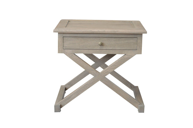 Levi Side Table - Weathered Oak