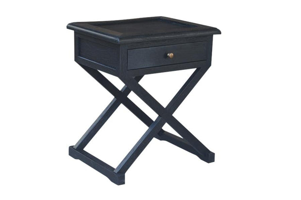 Levi Side Table - Black Oak