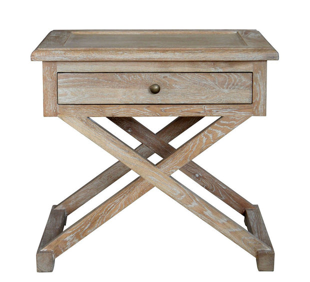 Levi Side Table  - White Wash Oak