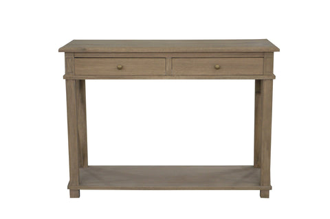 Manto Cross Brace Console Table - Small - Weathered Oak