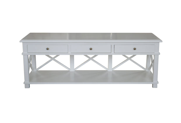 Sorrento Styled Cross Brace TV Unit - White