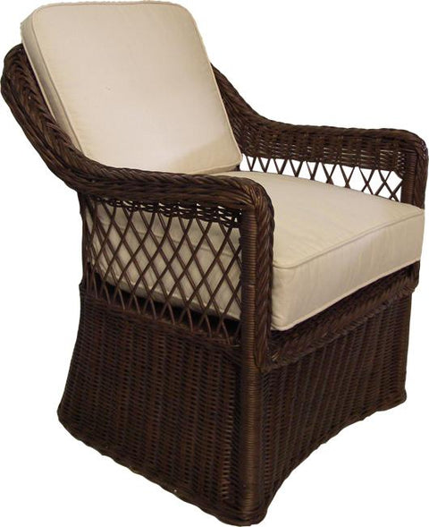 Hampton Rattan Armchair  -  Chocolate