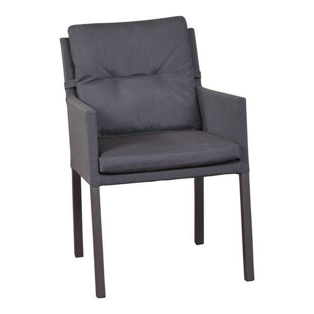 Caribean Chair Carbon Grey-Lava Legs