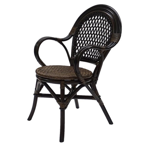 Rattan Armchair - Tobacco - Set of 2