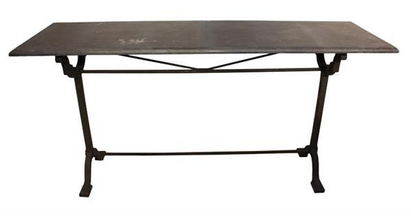 Iron & Bluestone Console Table