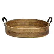 Timber & Iron Oval Serving Tray