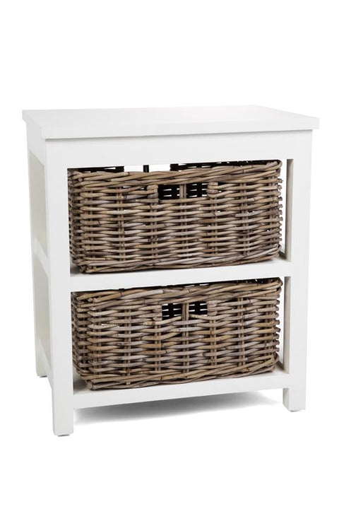 Hampton White Storage in 2, 3 or 4 Basket