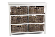 Hampton White Storage in 9 Basket - Tall or Wide Sideboard