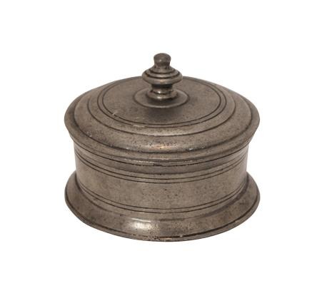Pewter Box with Lid - Round