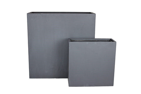 Rectangular Pots Dark Grey - Set of 2