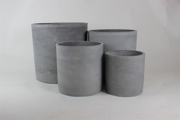 Concrete styled Cylinder Light Grey - Set of 4