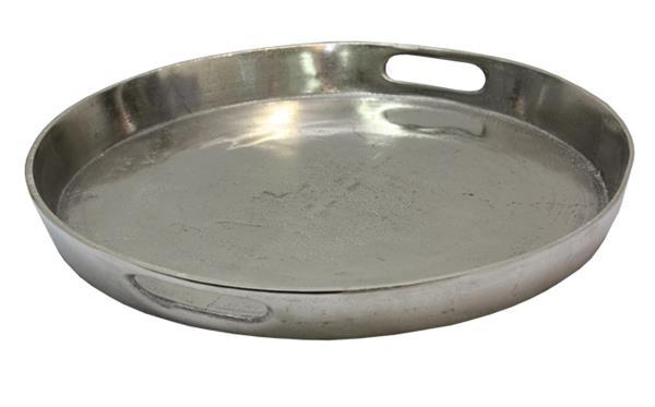 Large Metal Tray with Handles
