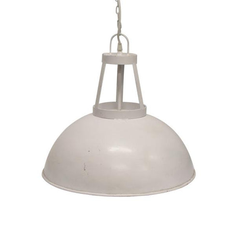 Luna Round White Hanging Light - Large