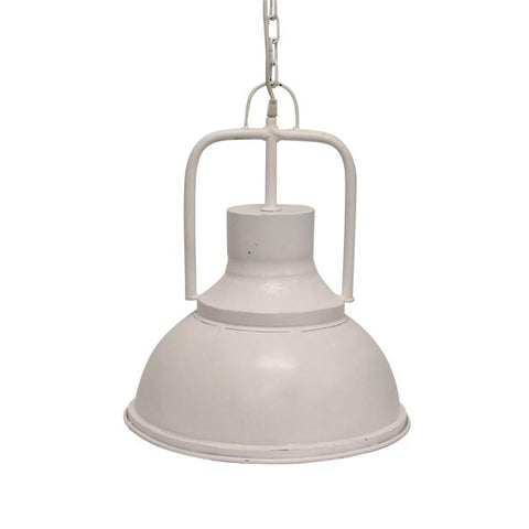 Luna Round White Hanging Light - Small