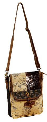 Cowhide And Canvas Patchwork H