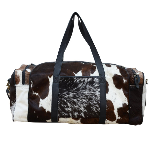 Cowhide Patch Overnight Bag