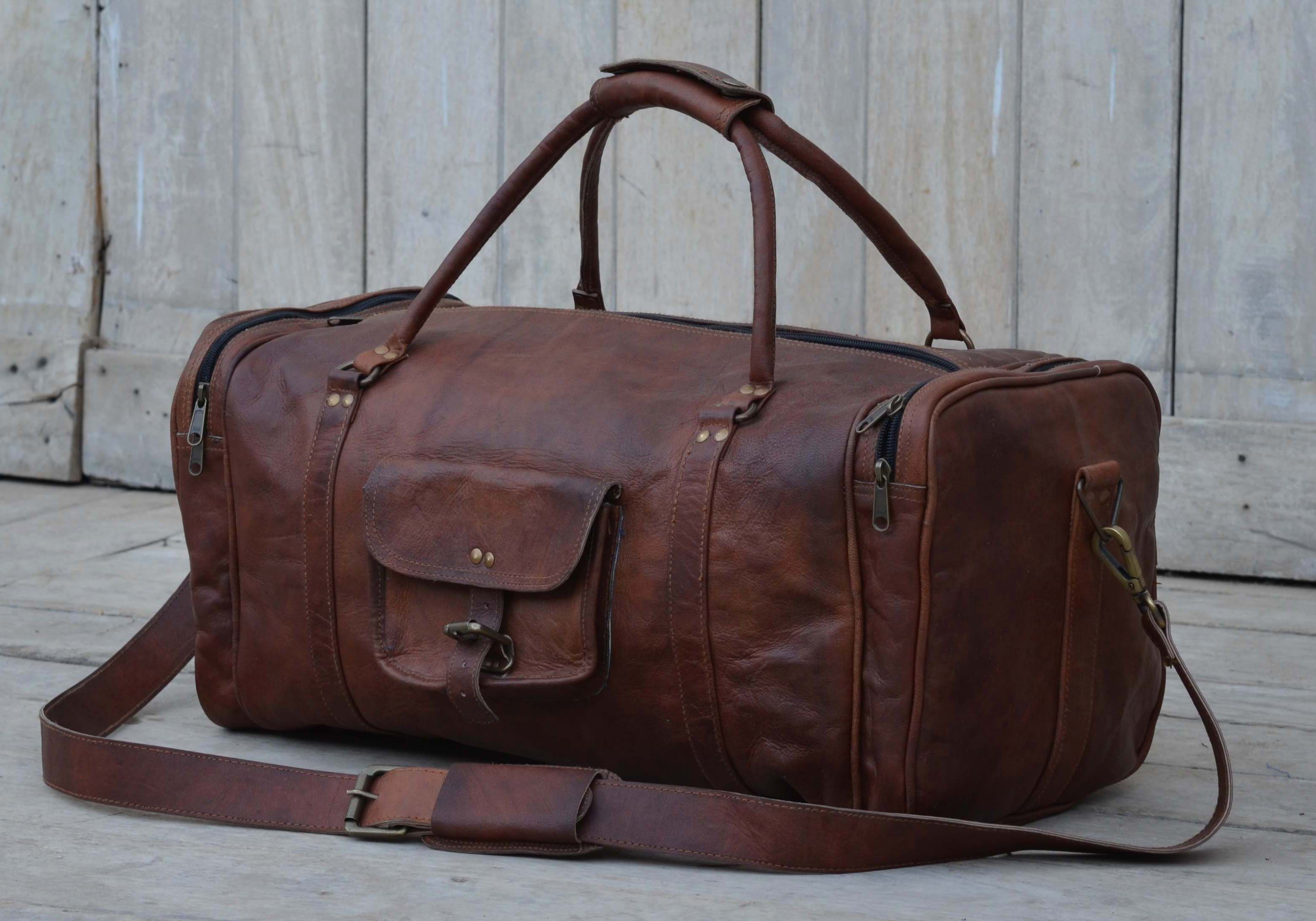 Overnight Leather Duffle Bag