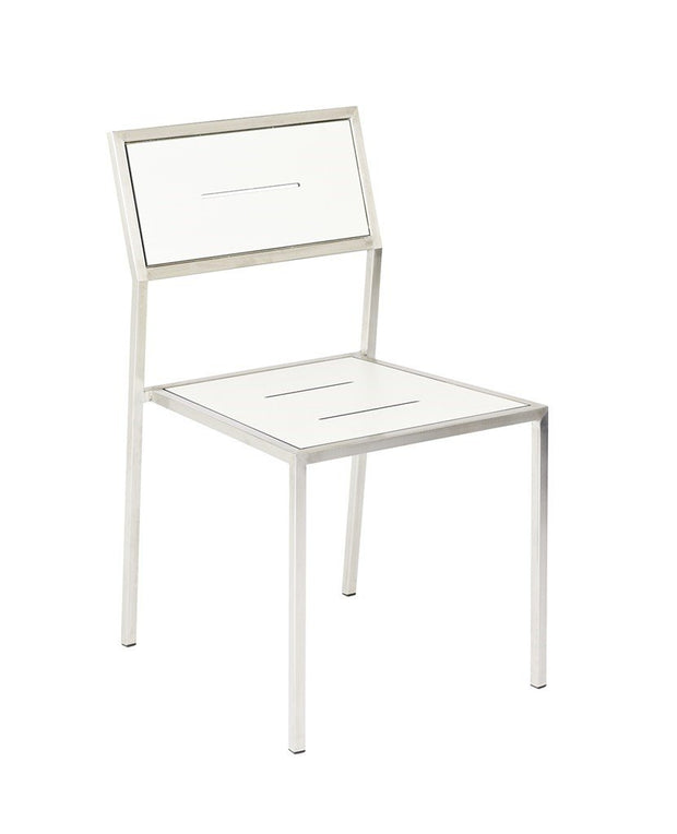 Stainless Steel Marine Chair-  White