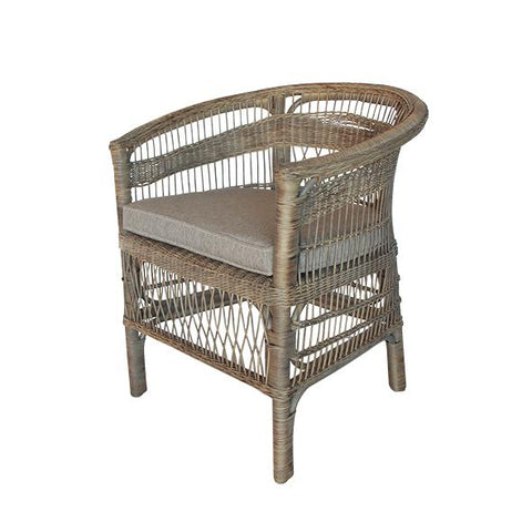 Maine Wicker Armchair - Natural