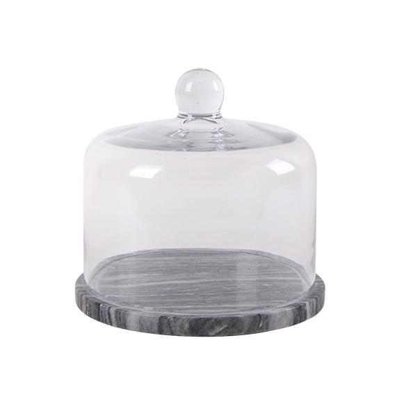 Marble Based Glass Food Cover - Small