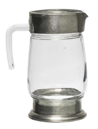 Glass & Pewter  Jug - Medium