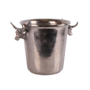 Bull Handle Silver Ice Bucket