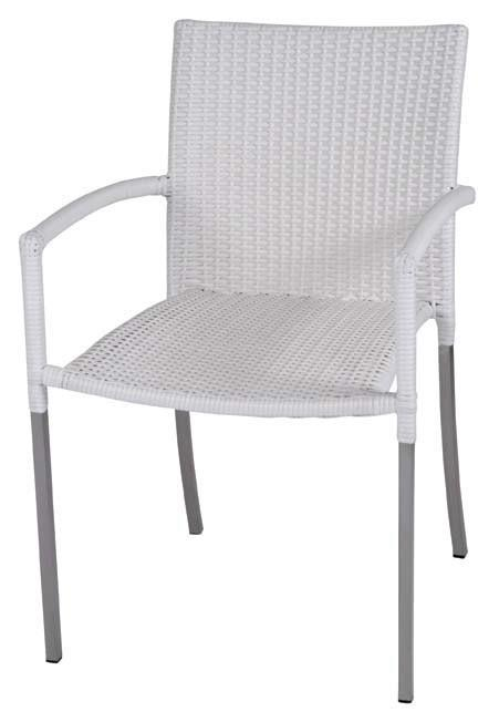 Olivia Chair With Arms - White - Set of 2