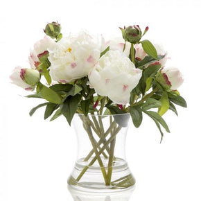 Peony in Water / Glass Vase