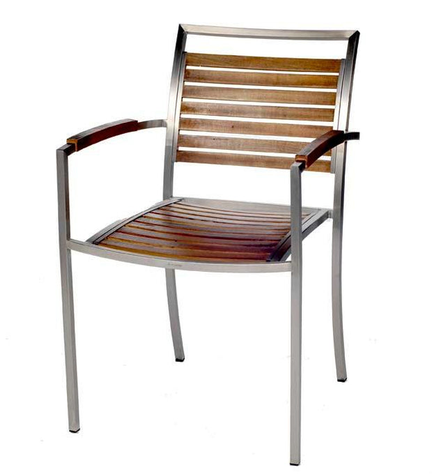 Outdoor Plantation Chair with  Arms - Set of 2
