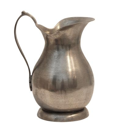Pewter Jug with Flat Handle - Large