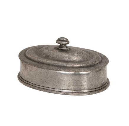 Pewter Box with Lid - Oval