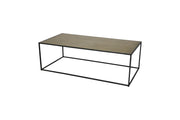 Phillip Burnished Brass Top Coffee Table