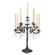 French Styled Candelabra - Black